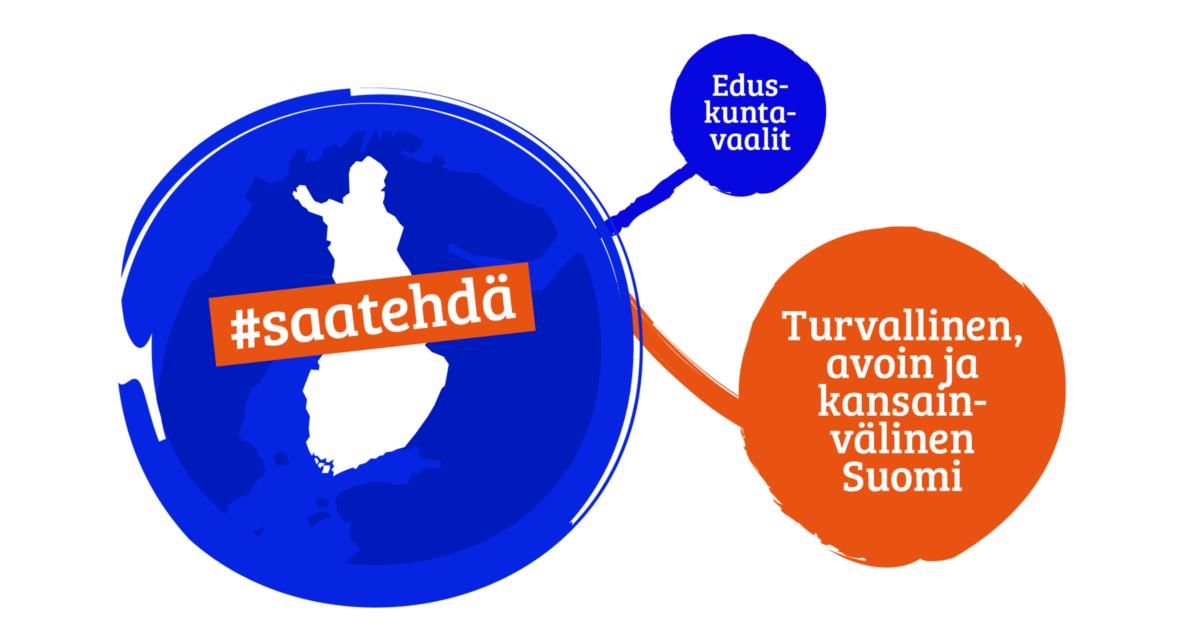 Kokoomuksen eduskuntavaaliohjelma: Turvallinen, avoin ja kansainvälinen Suomi