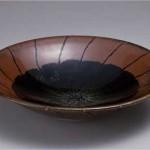 2010 柿釉線紋鉢