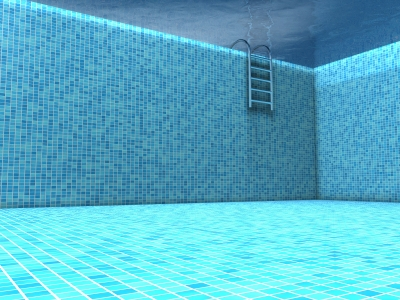 membuat kolam renang minimalis di lahan sisa