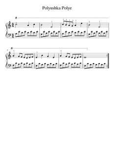 Polyushka Polye Piyano Notası