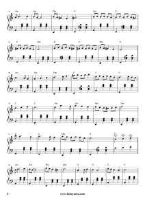 İkinci Bahar - Piano Notası