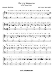 Karayip Korsanları - Kolay Piyano Notası