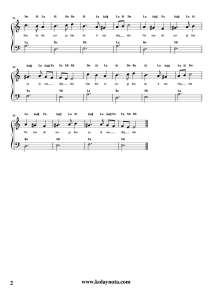 Nazende Sevgilim - Kolay Piyano Notası