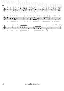 Eksik Bir Şey Mi Var - Kolay Notası - Re Minör