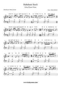 Hababam Sınıfı - Kolay Piyano Notası