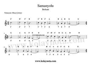 Samanyolu - Kalimba Notaları