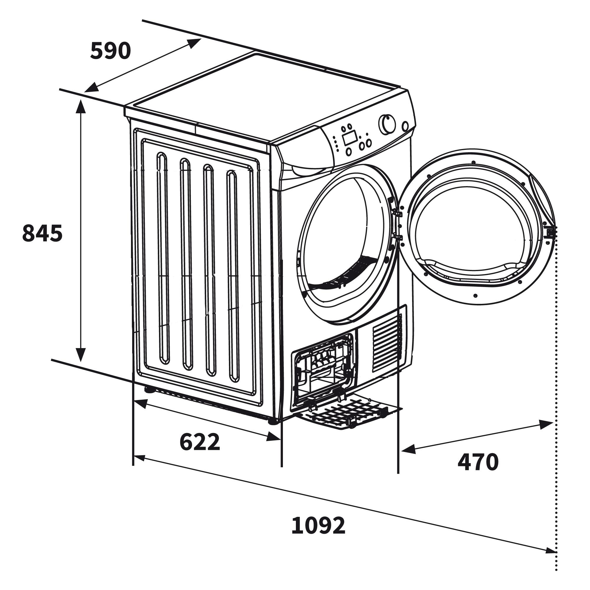 Waschmaschine Dimensionen # Deptis.com > Inspirierendes