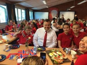 Med besøk av ordfører Thomas til frokost