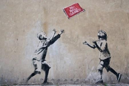 oeuvres de Banksy no ball game
