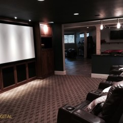 Modern Living Room Picture Gallery Wall Color For With Red Sofa Open Concept Home Theaters | Kole Digital