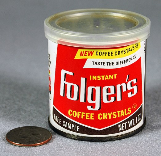 Roadsidepictures / Instant Folger's Coffee Crystals Sample, 1960's (CC BY-NC-ND 2.0))