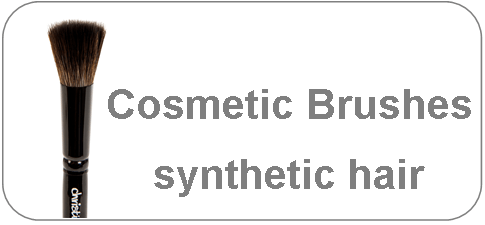 cosmetic brushes made of synthetic hair