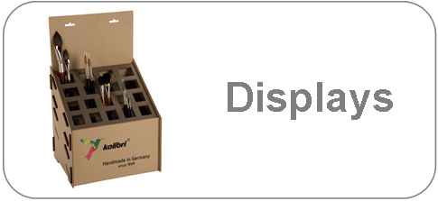 brush displays, table displays