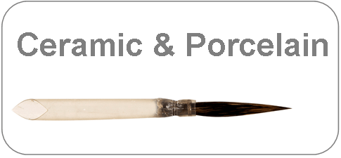 brushes for ceramic and porcelain (China) painting
