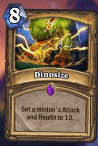 Dinosize Hearthstone