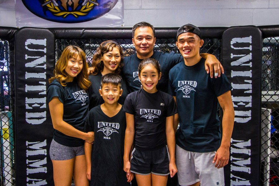 """WAIPAHU, HAWAII - AUGUST 18: """"Since we have our own family gym, [my brother and I] actually help coach the kids there. It definitely helps to keeping an eye on my little brother and sister to try and show them the way."""" - Angela Lee (Photo by Kyle Wright/@kyleaddisonwright Instagram)"""