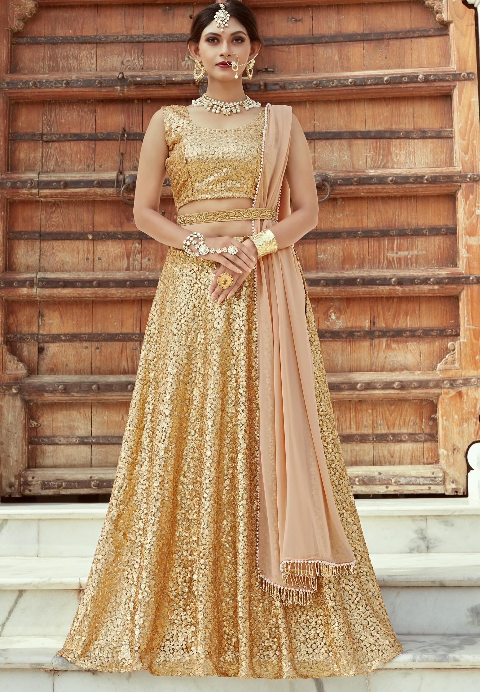 indian dress gold color