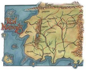 Mapa Dziesięciu Narodów