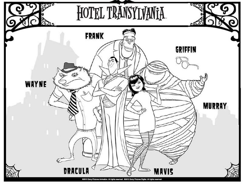 Hotel Transylvania - Wallpaper - Kolorowanki do druku