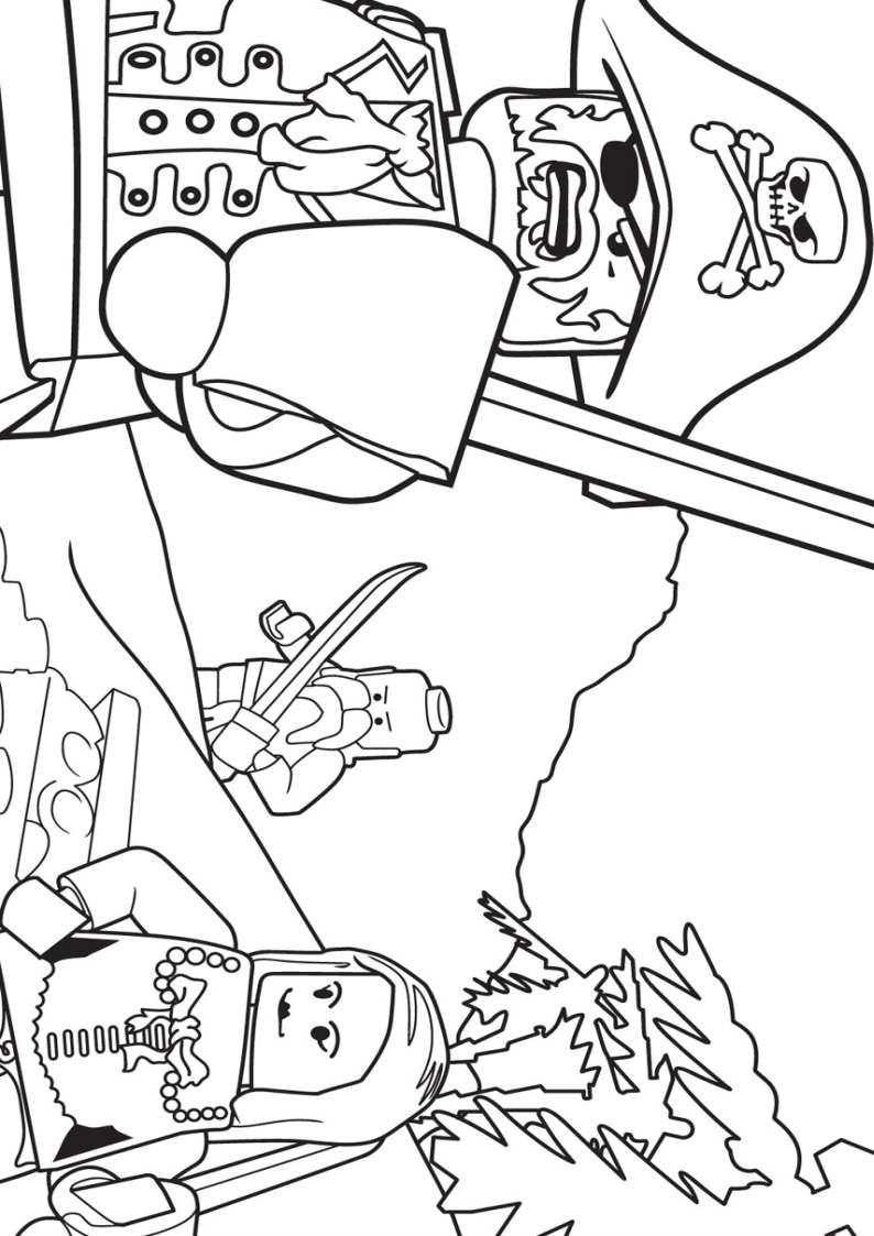 Do wydruku kolorowanka Lego piraci #23