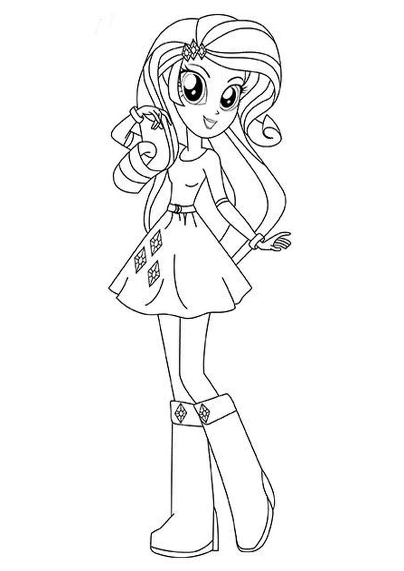 Lalki equestria girl kolorowanki minecraft