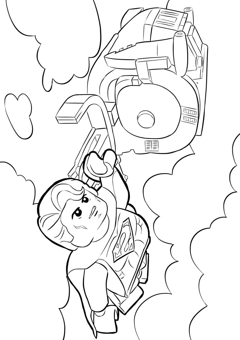 Kolorowanka lego superman do wydruku nr 8