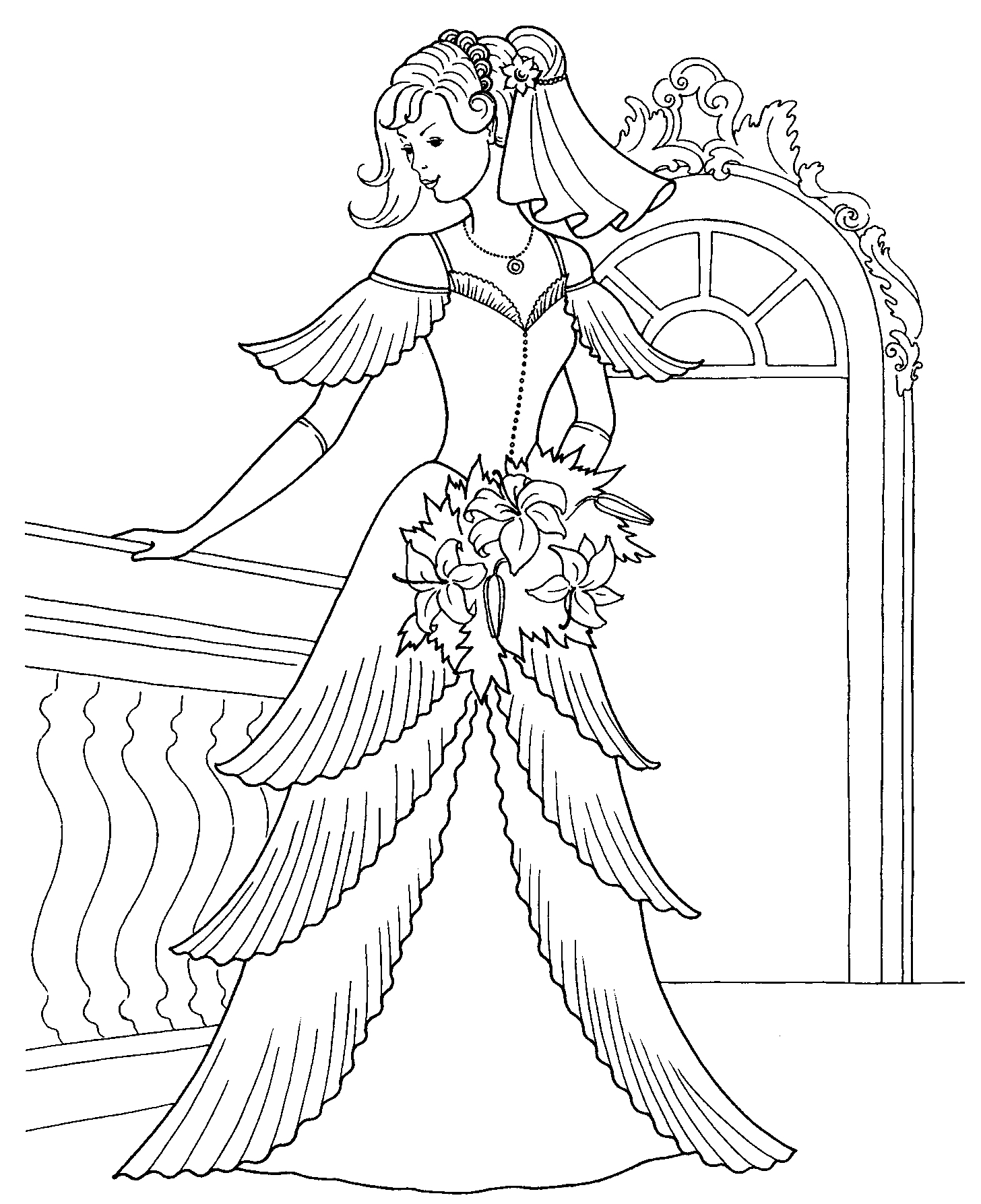 Free coloring pages of lady tremaine