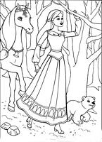 DLA DZIEWCZYN Kolorowanki Barbie Magia Pegaza do wydruku