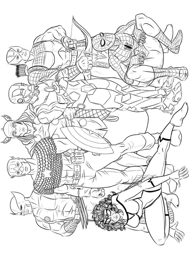 Kolorowanka Avengers malowanka do wydruku nr 17