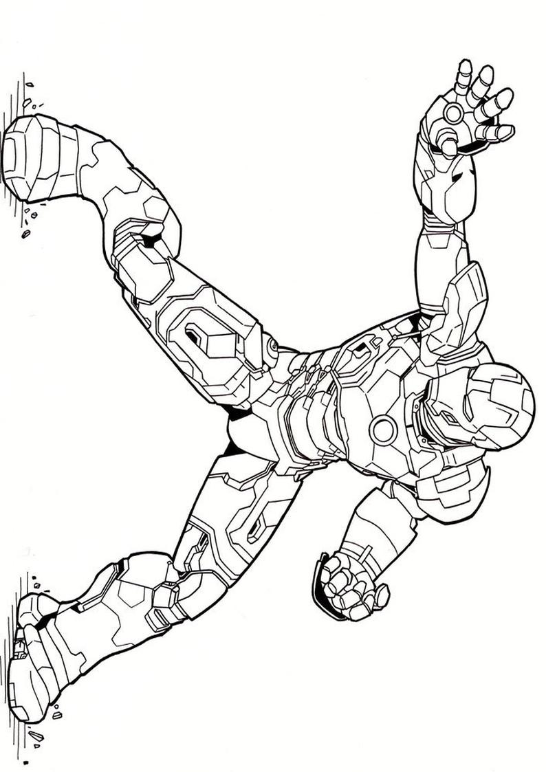 Kolorowanka Avengers Iron Man Malowanka Do Wydruku Nr 43