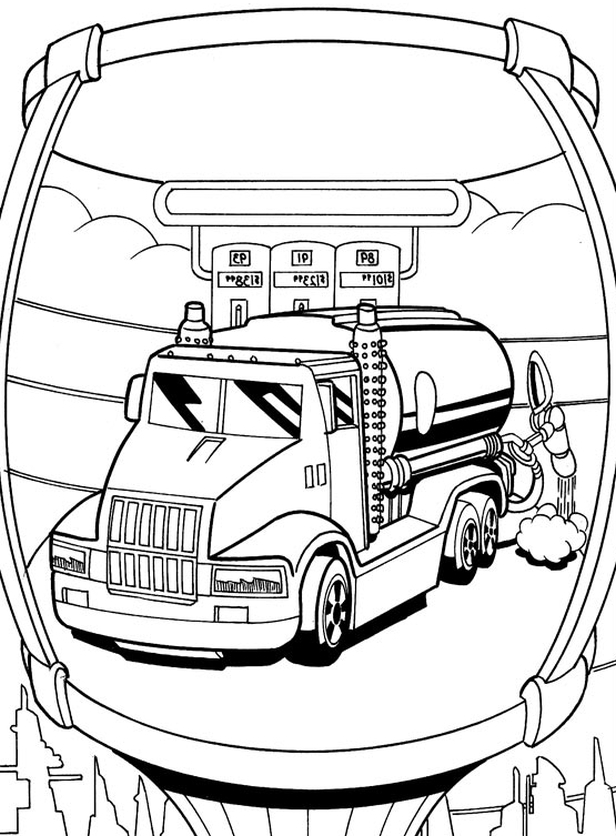 Hotwheels Coloring Pages