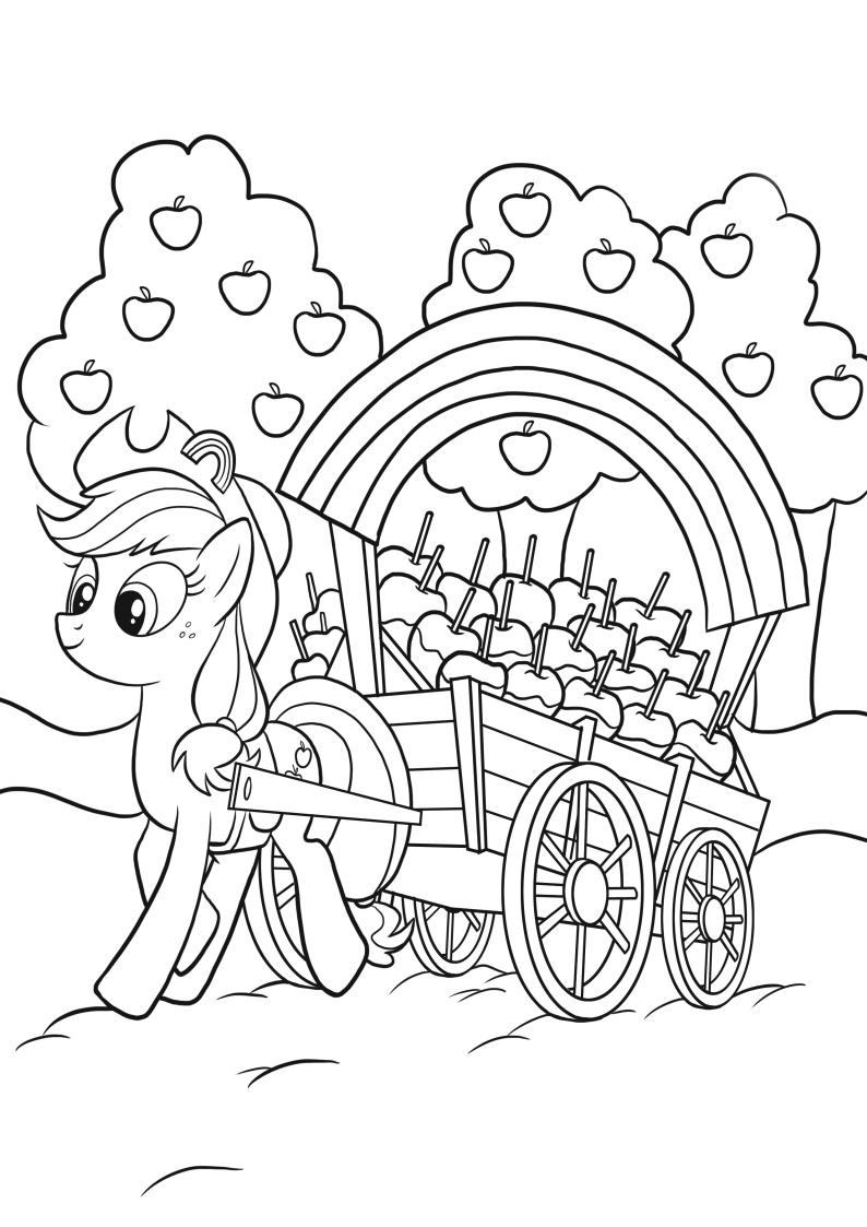 Kolorowanka My Little Pony Apple Jack Nr 1