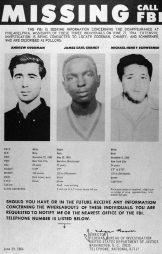 Mississippi Burning, Freedom Summer, Michael Schwerner, James Cheney, Andrew Goodman, KOLUMN Magazine