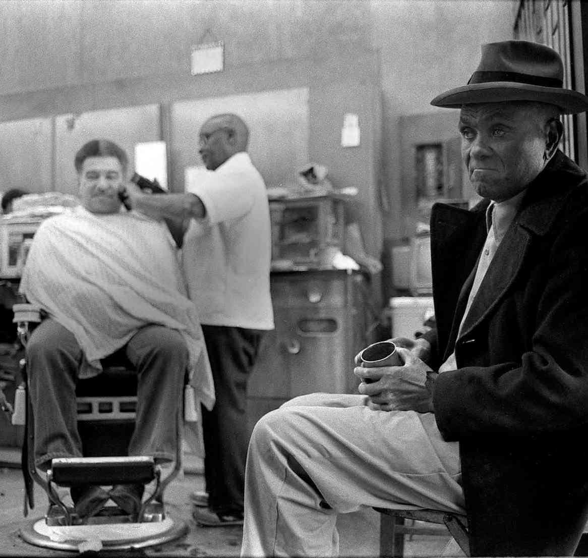 Dix's Barber Shop at 342 S Rampart Street. Harold F. Baquet