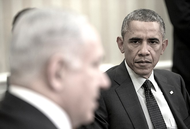 President Barack Obama listens as Israeli Prime Minister Benjamin Netanyahu speaks during their meeting in the Oval Office of the White House in Washington, Wednesday, Oct. 1, 2014. President Barack Obama and Israeli Prime Minister Benjamin Netanyahu met for the first time since a rash of civilian casualties during Israel's summer war with Hamas heightened tensions between two leaders who have long had a prickly relationship. (AP Photo/Pablo Martinez Monsivais)