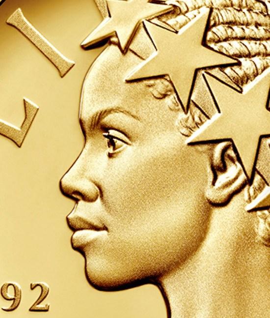 African American Lady Liberty, Commemorative Gold Coin, KOLUMN Magazine, KOLUMN