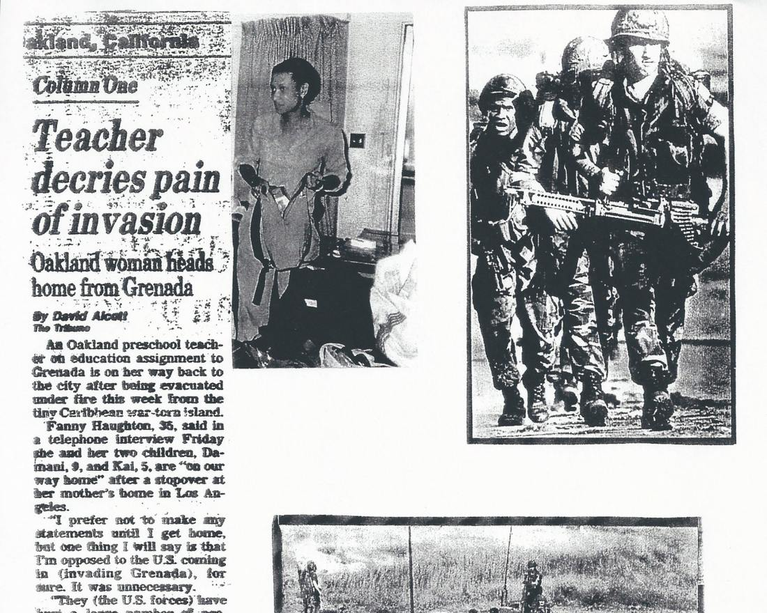 Black History, United States Military, Military Invasion, Invasion of Grenada, Maurice Bishop, Jacqueline Creft, Fannie Haughton, Angela Davis, Black Panthers, KOLUMN Magazine, KOLUMN