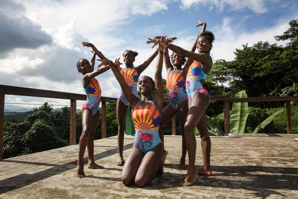 Ajoni, Katana, Joydayne, Laila, Nyouka, Synchronized Swimmers, Jamaica, Jamaican Athletes, Caribbean, Caribbean History, Black History, KOLUMN Magazine, KOLUMN