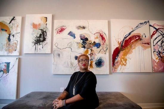 Abbye B., African American Artist, Black Artist, African American Art, Black Art, Tessera Arts Collection, Philadelphia Art, KINDR'D Magazine, KINDR'D, KOLUMN Magazine, KOLUMN