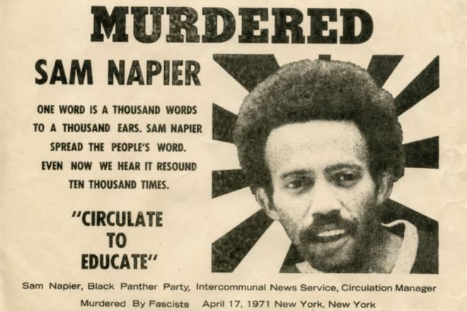 Sam Napier, Black Panther, Black Panther Party, African American History, Black History, KOLUMN Magazine, KOLUMN, KINDR'D Magazine, KINDR'D, Willoughby Avenue, WRIIT, Wriit,