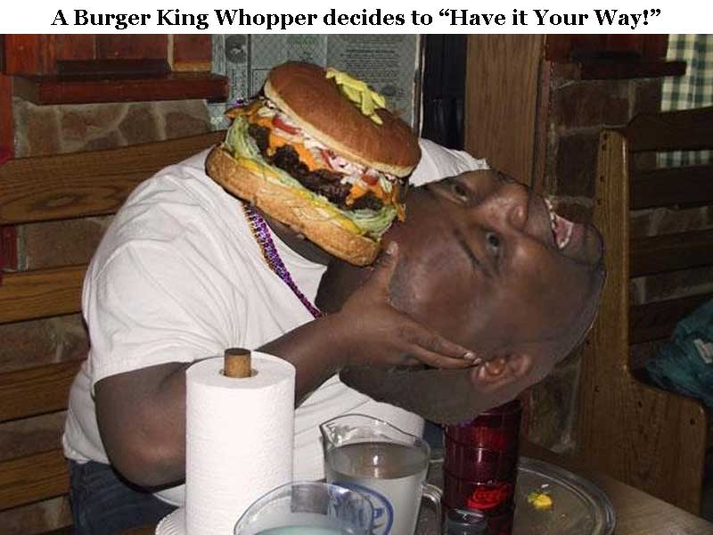 Eating Burger Fat Guy Happy