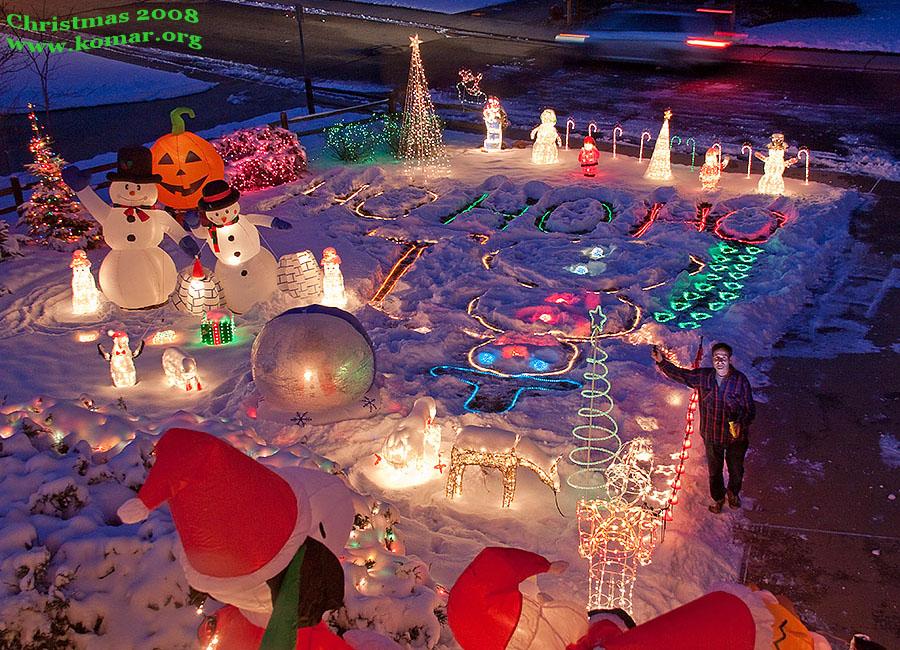christmas lights front yard