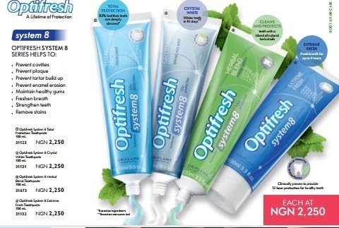Optifresh Crystal Whitening Toothpaste In Nigeria