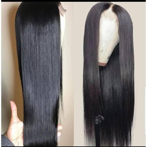 24 Inches Straight Wigs With Closure For Sale