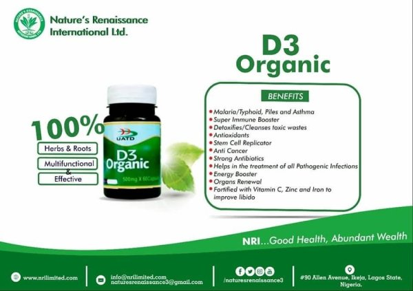 D3 Organic supplements In Nigeria For Sale