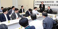 NPT再検討会議について話を聞いた党合同会議=15日 衆院第2議員会館