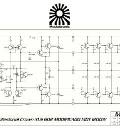 crown xls 602 mod schematic [ 3112 x 1967 Pixel ]