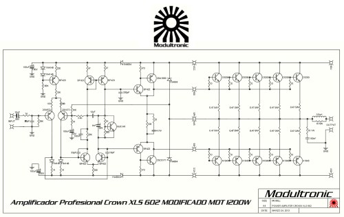 small resolution of  crown xls 602 mod schematic
