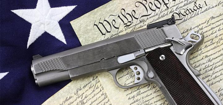 Handgun on Constitution