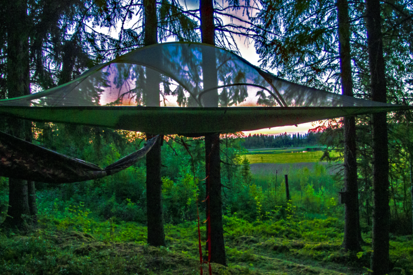 Tree Tent Kommee Kurki provides a unique experience in the pure Finnish nature.